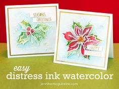 Easy Distress Ink Watercolor Video by Jennifer McGuire Ink