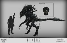 """Aliens Colonial Marines Concept Art for the """"Raven"""""""