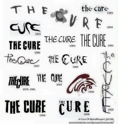 the cure's different fonts. My fave: Mixed up