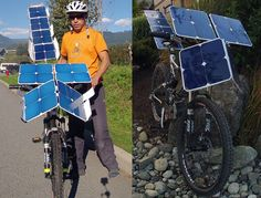 SolarCross E-Bike by Terry Hope - This DIY SolarCross project turns a conventional bike to e-bike without the need of battery, it utilizes the sun's energy. Terry Hope, the man behind this project, has designed a hybrid solar e-bike that operates without batteries or pedal input, it can reach a speed of 7km/h.   via tuvie.com