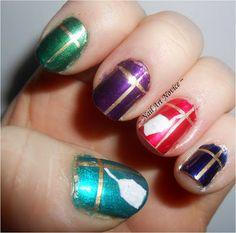 Nail Art Novice: 12 Days Of Christmas Nail Art 1-Presents