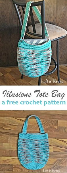 A free and modern crochet market tote pattern. Made with bulky cotton, this bag works up quickly! An easy and versatile project. Uses Bernat Maker Home Dec yarn.