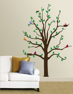 Huge Tree Wall Decal With Forest Animals Wall Sticker Murals Large - Wall decals in pakistanblack flowers removable wall stickers wall decals mural home art