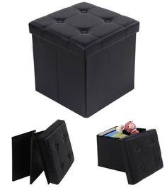 Pouf coffre de rangement pliable  http://www.homelisty.com/meubles-multifonctions/