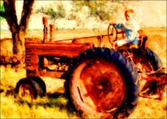 Dennis Fehler - My favorite son on an old tractor