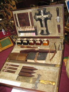 thegirlisbad:  Vampire killing kit, 1850 Weapons contents:...