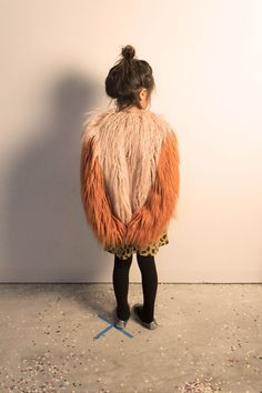 Bobo Choses AW14 Shaggy Faux-Fur Jacket - Pale Pink & Orange *swoon* with free fast delivery...