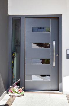 References modern windows & doors from fenster-paul gmbh modern Door Design Interior, Door Gate Design, Contemporary Front Doors, House Doors, Doors Interior, Modern Windows, House Entrance Doors, Doors Interior Modern, Front Door Design