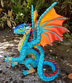 Dragon Sculpture Catalog-- Made to Order Clay Dragon, Dragon Art, Wings Of Fire Dragons, Mexico Art, Dragon Figurines, Fire Art, Mexican Folk Art, Sculpture Clay, Polymer Clay Art