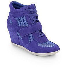 Ash Bowie Mesh-Paneled Wedge Sneakers