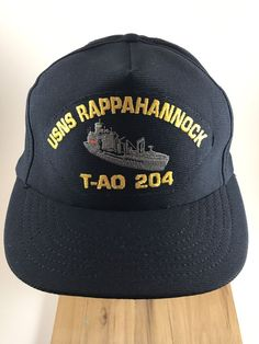 USNS Rappahannock T-AO 204 Cap Hat Snapback US Navy Ship TAO Navy Ship  #Unbranded #BaseballCap