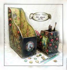 """Купить Набор """"Алиса в стране Чудес"""" : карандашница и журнальница - для детей, алиса в стране чудес"""