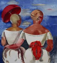 Ladies at the Seaside 1920  Jēkabs Kazaks  Latavian