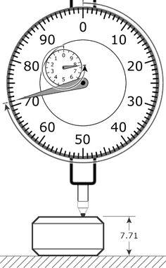 Virtual Dial Indicator, Simulator in Hundredths of Millimeter Engineering Tools, Mechanical Engineering, Metal Lathe Tools, Math Formulas, Measuring Instrument, Home Workshop, Mechanical Design, Machine Tools, Diy Woodworking