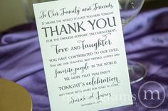 Wedding Reception Thank You Card to Your Guests  To by marrygrams, $100.00