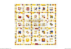 BWBW001. CG print. Photo-collage created from Broadway Boogie Woogie by Mondrian.