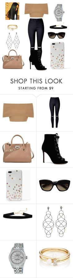 """Independent"" by malachiaewarrenwifeyjunnewarre on Polyvore featuring Blue Vanilla, WithChic, Jimmy Choo, Gianvito Rossi, Kate Spade, Bottega Veneta, Rolex and Loren Stewart"