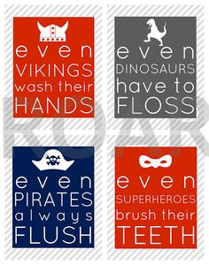 cute kid bathroom printables