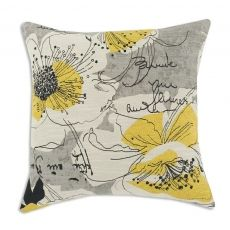 Lovely gray & yellow pillow... For my room.