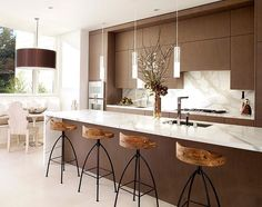 Kitchen in a Russian Hill house in San Francisco by John Maniscalco Architecture