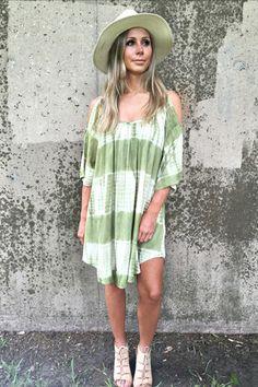 EMERALD TIE DYE DRESS #rioritz http://www.rioritz.com/products/emerald-tie-dye-dress
