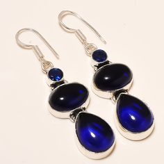 Daily Deals 925 Silver Tanzanite Quartz Gemstone Designer Jewelry Earrings #Handmade #DropDangle