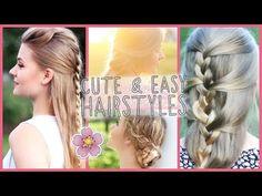 CUTE & EASY HAIRSTYLES - Alltagsfrisuren in 10 Minuten - YouTube