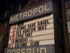 Metropol /Rosebud Pittsburgh...first date