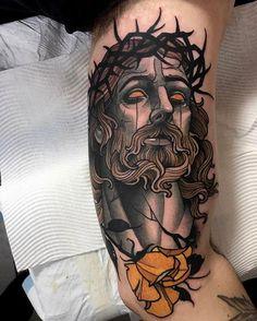 "6,631 Me gusta, 14 comentarios - Sullen Art Collective (@sullenclothing) en Instagram: ""Jesus tattoo by Sullen Artist @primm_ done on fellow tattoo artist @jacobjgardner"""