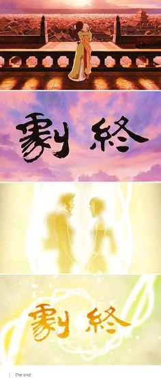 Parallels.  AtLA and tLoK.  Looooooove this.  Kataang and Korrasami