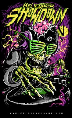 My name is Félix LaFlamme and I'm a french Canadian Artist/Illustrator from Québec. Arte Horror, Horror Art, Art And Illustration, Cartoon Kunst, Cartoon Art, Arte Dope, Heavy Metal Art, Bright Art, Retro Mode
