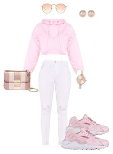 """Untitled #10"" by nakiya2806 ❤ liked on Polyvore featuring NIKE, MICHAEL Michael Kors, Nordstrom Rack and Michael Kors"