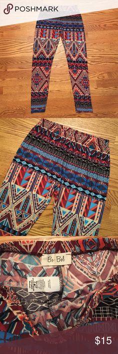 Ba Bel geometric leggings pants from Golden Tote Multi-colored, geometric print leggings/stretch pants from Golden Tote. Only worn to try on. Size medium. Golden Tote Pants Leggings