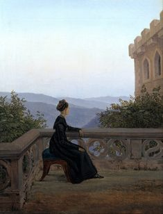 Carl Gustav Carus - Woman on the Balcony.  As Natalie said: One could get lost in this painting
