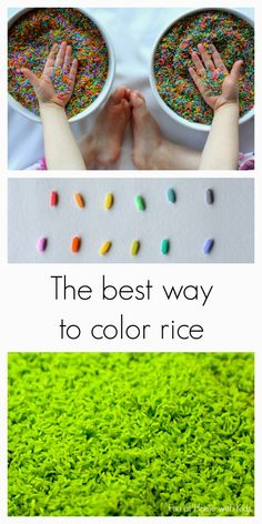 The best way to color rice: a comparison of two methods from Fun at Home with Kids