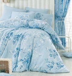 Homeville Povlečení 100% bavlna Elena sv.modrá se