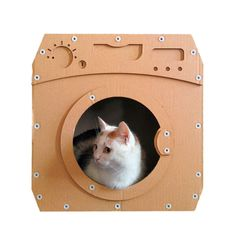 Wash Cardboard Cat House - Noelia Barrios Mesa - Wash Cardboard Cat House Wash Cardboard Cat HouseCat FurnitureCat ToyCat by CacaoPets - Diy Cat Tree, Cat Tree Condo, Cat Condo, Cool Diy, Diy Cat Scratching Post, Niche Chat, Cardboard Cat House, Cat Climber