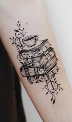 Dream Tattoos, Mini Tattoos, Black Tattoos, Body Art Tattoos, Small Tattoos, Sleeve Tattoos, Tea Tattoo, Book Tattoo, Frases Para Tattoo