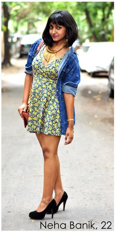 Neha Banik thinks that being fashionable doesn't necessarily mean wearing the latest or hottest looks, but having a timeless sense of style. Real People, India, Street Style, Hot, Casual, How To Wear, Dresses, Fashion, Gowns