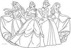 Four Disney Princess Coloring Page. Also see the category to . Moana Coloring Pages, Disney Princess Coloring Pages, Disney Princess Colors, Bear Coloring Pages, Coloring Sheets For Kids, Cartoon Coloring Pages, Printable Coloring Pages, Coloring Books, Adult Coloring