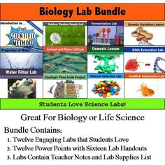 Biology or Life Science Lab Bundle Contains: 1. Twelve Engaging Labs that Students Love 2. Twelve Power Points with Sixteen Lab Handouts  3. Labs Contain Teacher Notes and Lab Supplies List