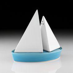 No idea that TFM made kitchen wear  Salt & Pepper Boat Set by takae mizutani