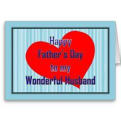 Happy Father's Day From Wife   HAPPY 1ST FATHER'S DAY TO HUSBAND FROM WIFE - FIRS GREETING CARDS