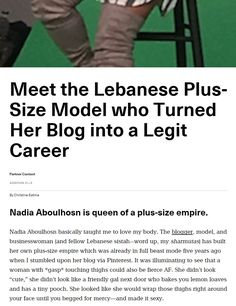 My interview with #nadiaaboulhosn is now up at #Broadly