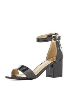 Patent Two-Piece Sandals   Charlotte Russe