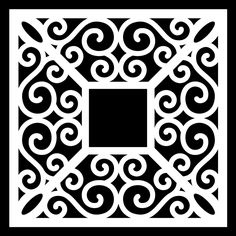 Swirly Frame 2 by Bird - Free Digital Cut File - more on link Vinyl Crafts, Paper Crafts, Diy Craft Projects, Projects To Try, Svg Files For Scan And Cut, Cnc Cutting Design, Stencil Printing, Silhouette Cameo Tutorials, Stencil Patterns