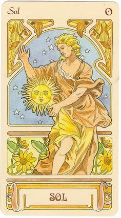 Sun from the Nouveau Tarot El Sol...del Tarot Nouveau