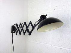 Bauhaus Kaiser Idell 6718 'Super' scissor arm wall mounted lamp - eyespy Bauhaus, Wall Mounted Lamps, Mid-century Modern, Contemporary, Mid Century Modern Furniture, Industrial Lighting, Wall Lights, Arms, Studio