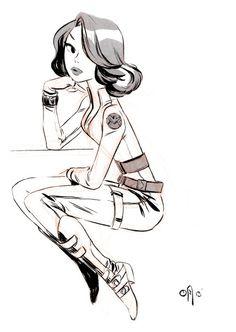 A Black Widow for INKtober!