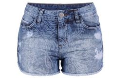 Shorts Jeans com Lavagem Laser